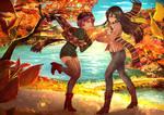 commission - Hitomi x Chizuko by CherryInTheSun
