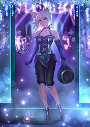 commission - Ashe at the ball