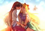 Rei x Minako - Sharing some cherries
