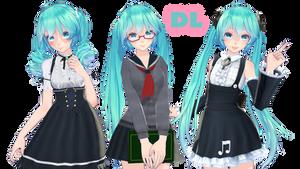 [DL] TDA Miku Cute Pack DL! by MirinTheFox