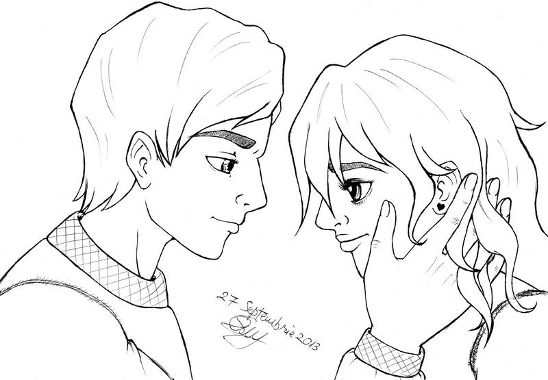 Couple Sketch by pokemon-de-strada