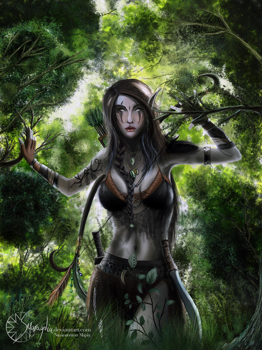 Hot 3d elf warrior sexual fantasy chick