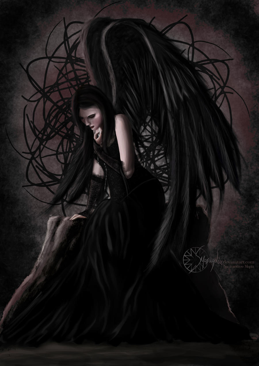Sad Angel Paintings Angel in Sadness by