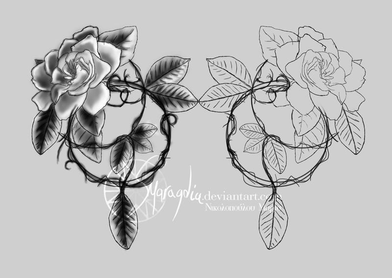 hot rod car tattoos gardenia tattoo design