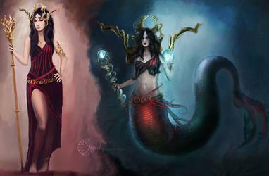 Cursed Princess turned to Naga