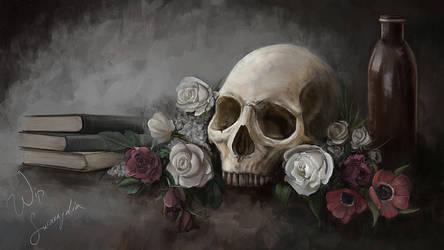 Skull-still-life