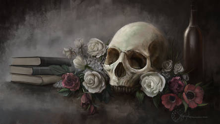 Skull and Roses by Smaragdia