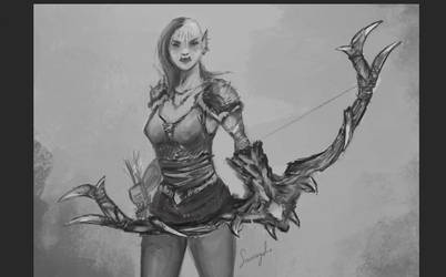 WIP - Orc huntress by Smaragdia
