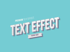 Isometric Text Style Effect (Psd)