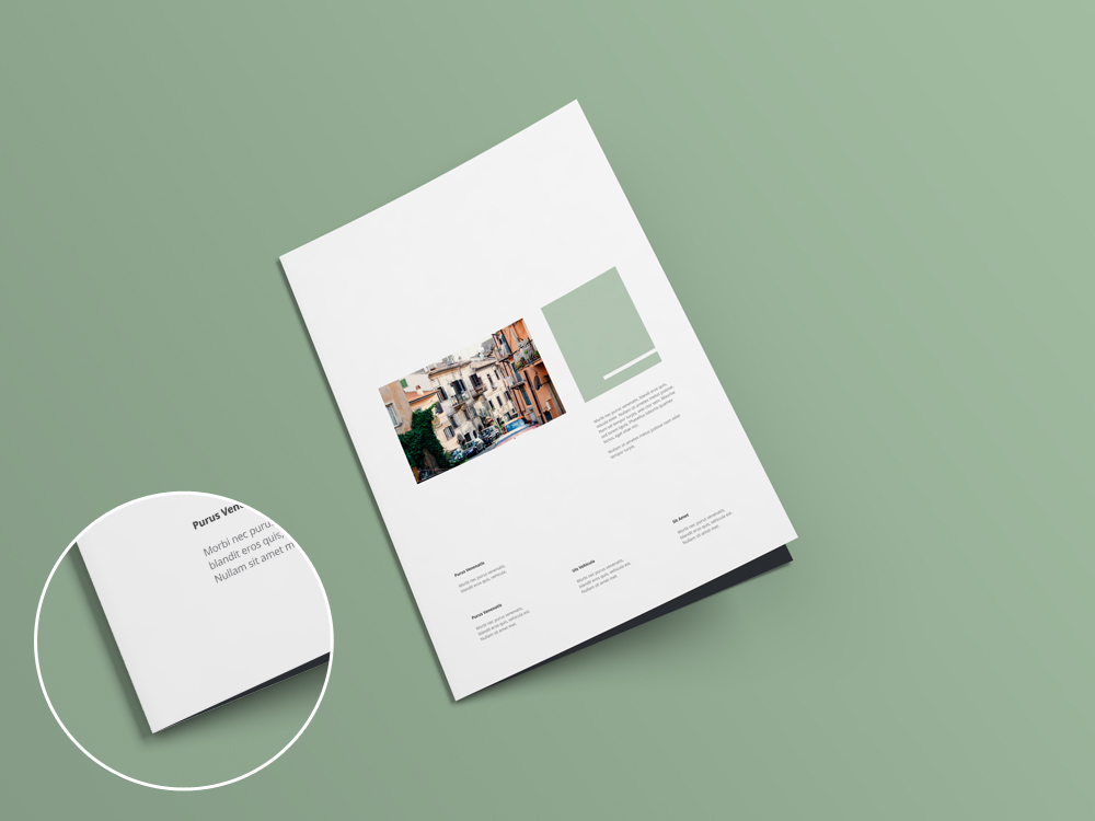 Bifold a4 brochure mockup by blugraphic