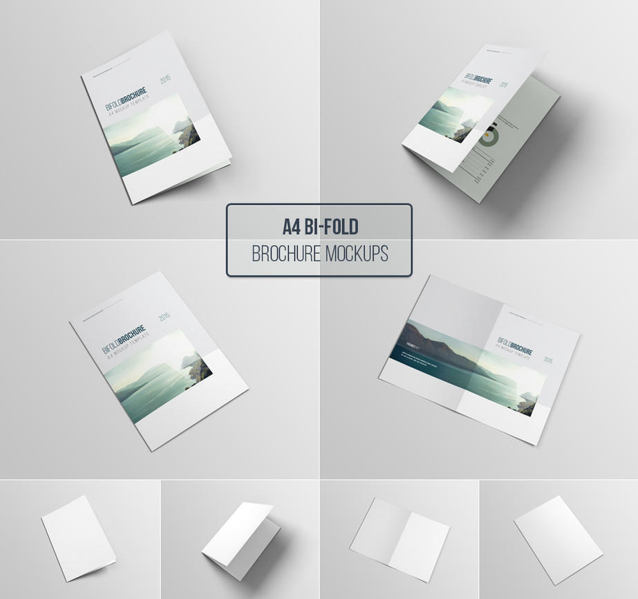 A4 Bifold Brochure Mockup by blugraphic