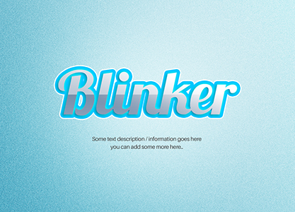 Inset Shiny Text Effect by blugraphic