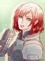 Commander Shepard by Kiriye