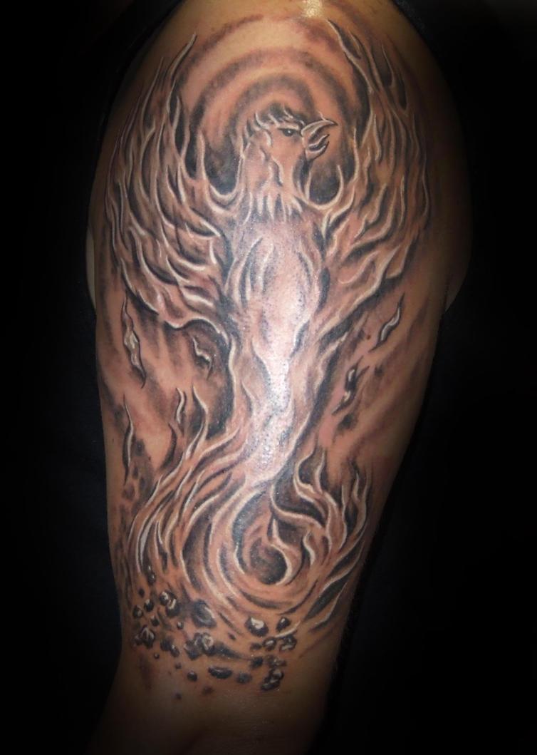 Фото татуировок в виде пламени