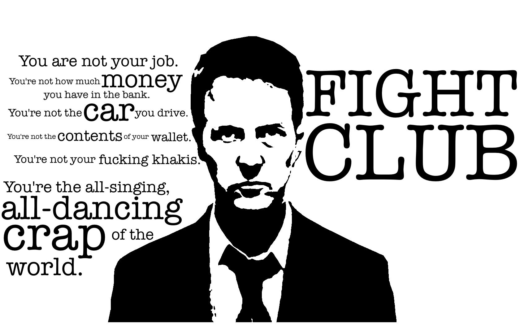 Fight club consumerism scene
