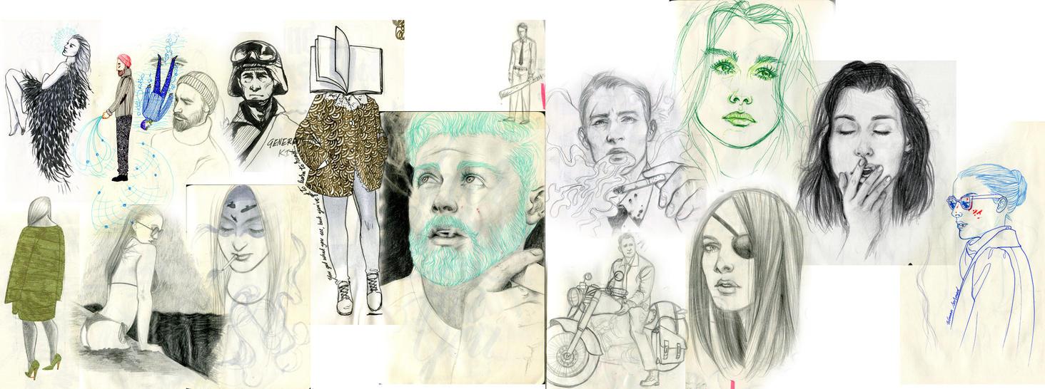 Sketch Dump 2015 by laydeepunch
