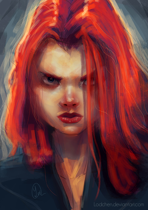 Portrait Practice by Lodchen