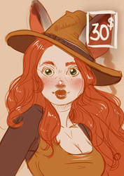 Autumn witch (Commission example) by Lodchen