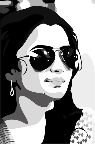 Girl with Sunglasses by koolblu