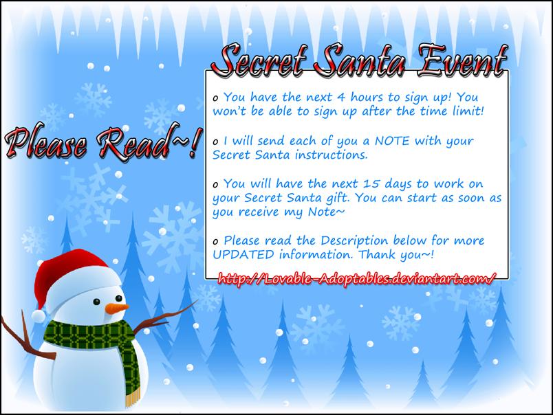 Secret Santa Event - Announcement by Bunny-Tsukino on DeviantArt