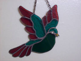 Stained Glass Bird by Blue-Falcon-Serenity