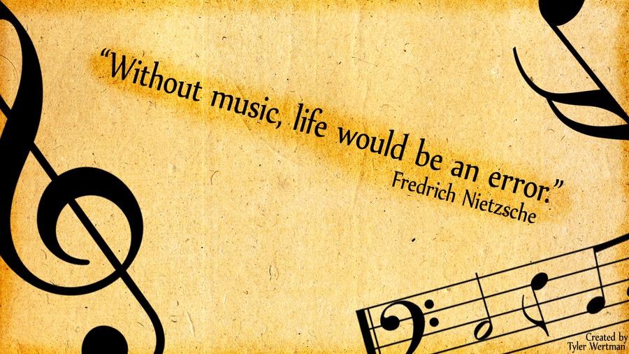 friedrich nietzsche music quote background by bluefalcon