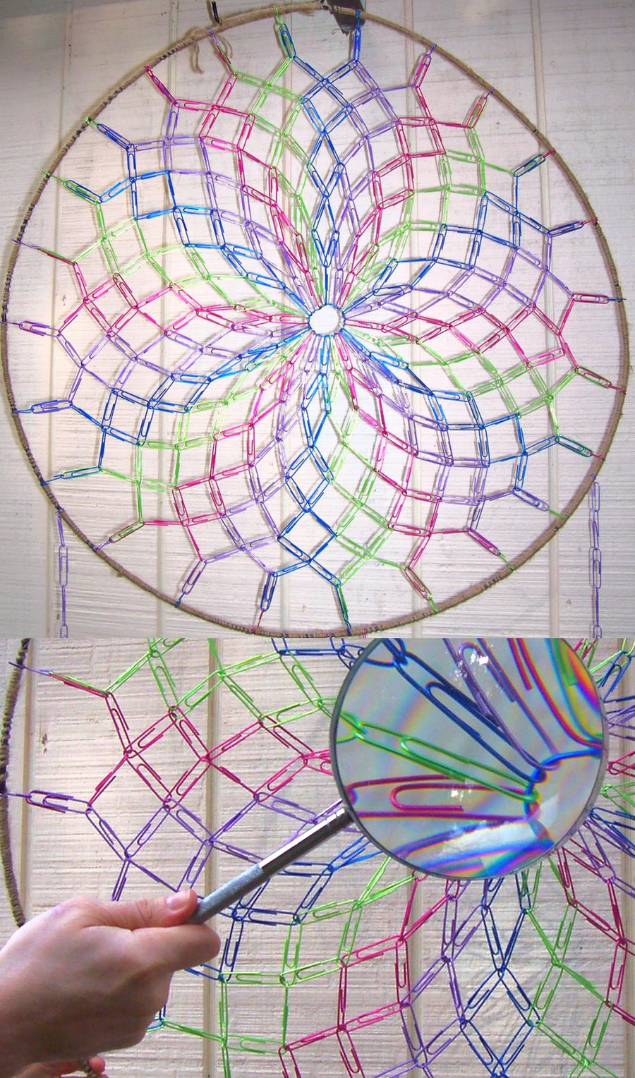 Paperclip dreamcatcher by jpcopper on deviantart for Things you can make with paper clips