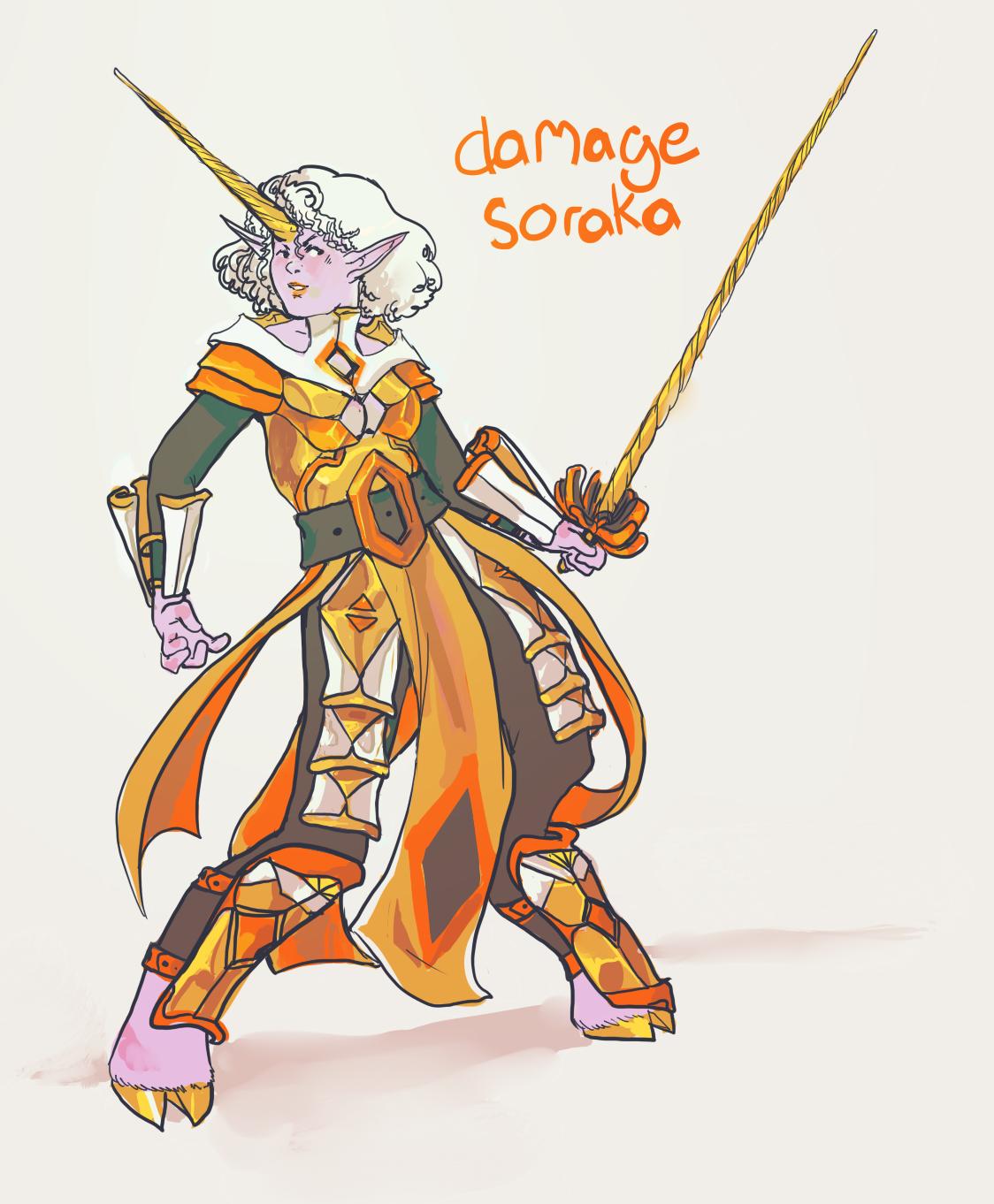 Damage Soraka by duskemi