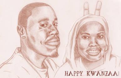 kwanzaa card by Qua-si