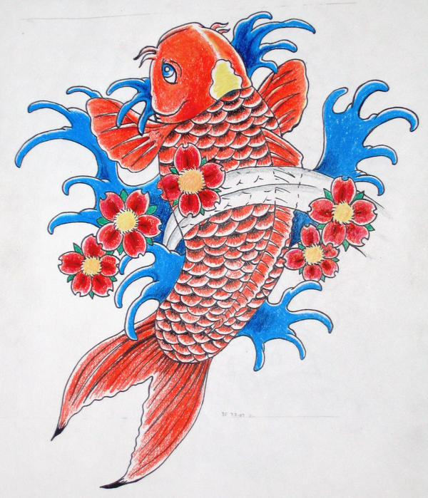 Top colorful koi fish drawings images for pinterest tattoos for Koi carp colours