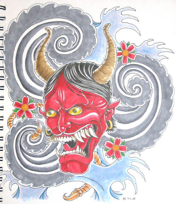 Japanese Hannya Mask Tattoo by ~bsguru on deviantART