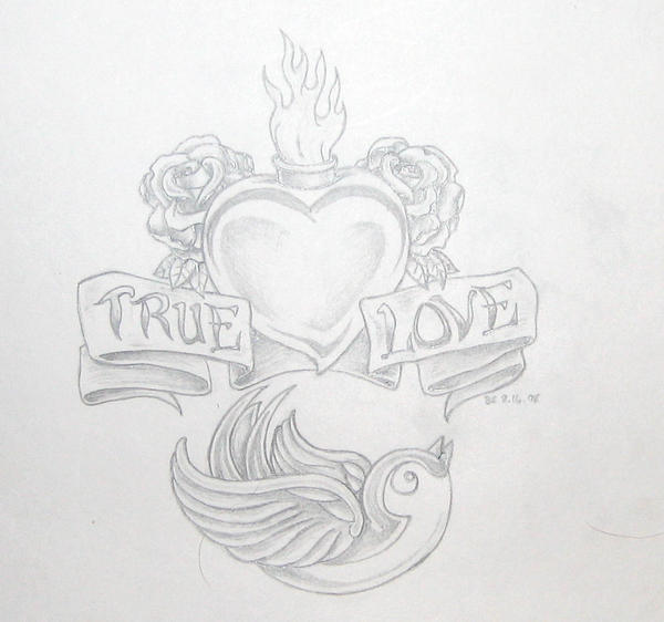 True love: for Michelle - shoulder tattoo
