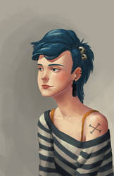 Blue hair by Inetiko