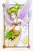Golden-eyed fairy by lirale