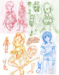 Ryshtahio redesign Sketch dump by lirale