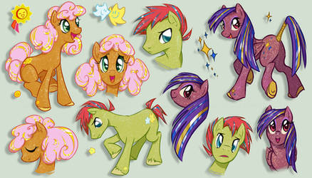 Sparkle Ponies - Sunspot, Star Dancer and Twinkler
