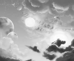 Margonnian skies by lirale