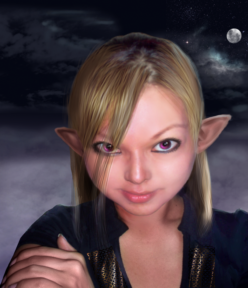 Y elf girl by VerdanMagiston