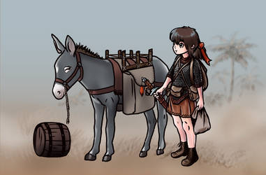 Viajera Con Burro by VerdanMagiston