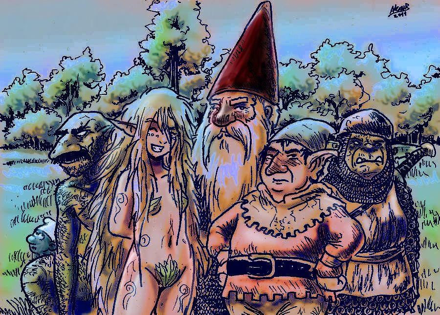 Gnomes  Elves And Goblins By Shabazik