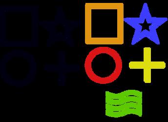ESP simbols vector free (Zenner cards - telepathy)