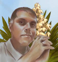 Autoretrato con flores de itabo