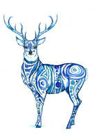 Blue Stag by PetaBernard