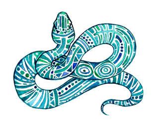 Teal Snake by PetaBernard