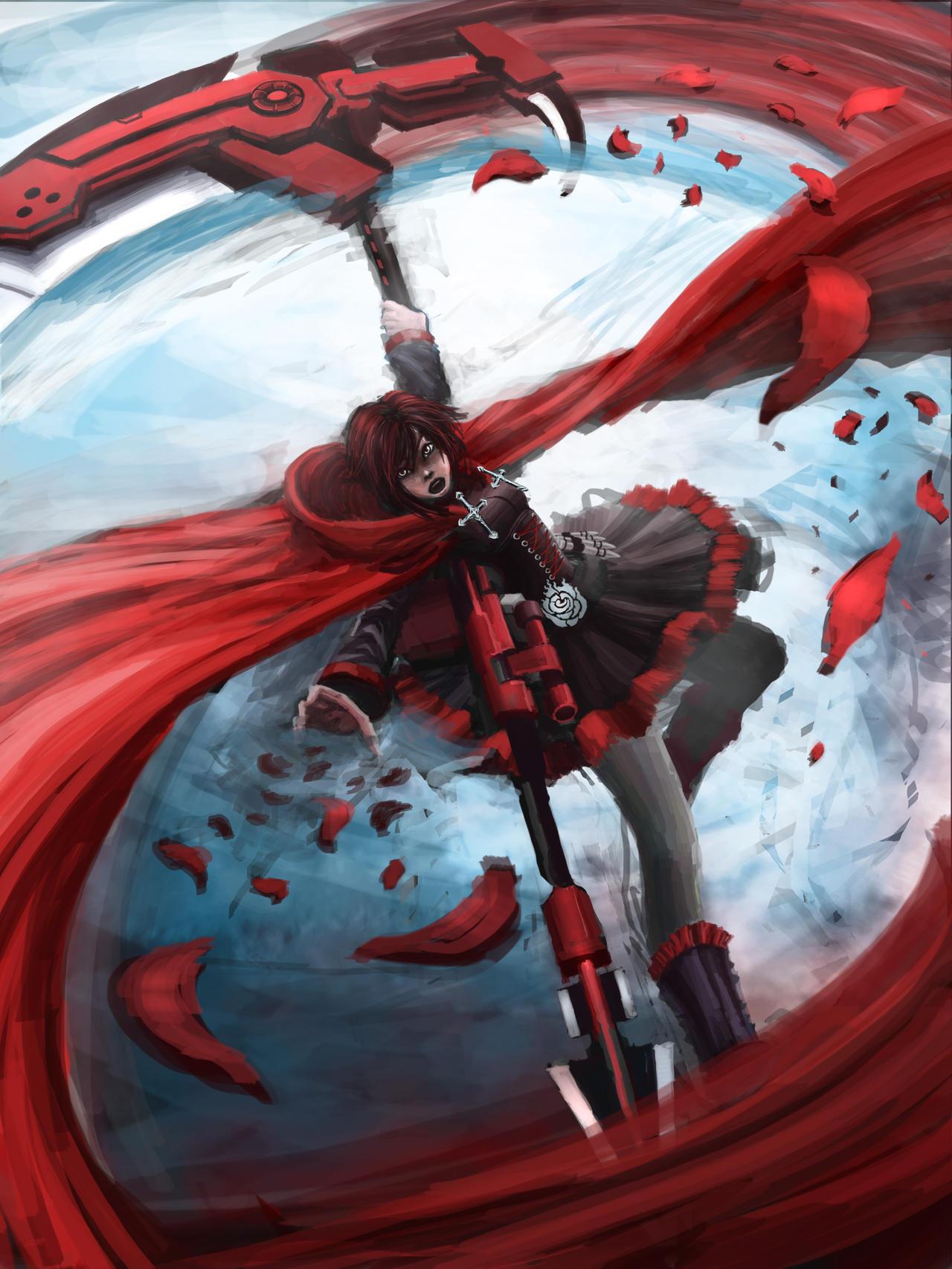 Rwby ruby rose by liewjj on deviantart - Rwby ruby rose fanart ...