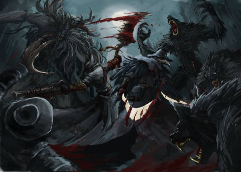 Bloodborne - Blood Party! by LiewJJ