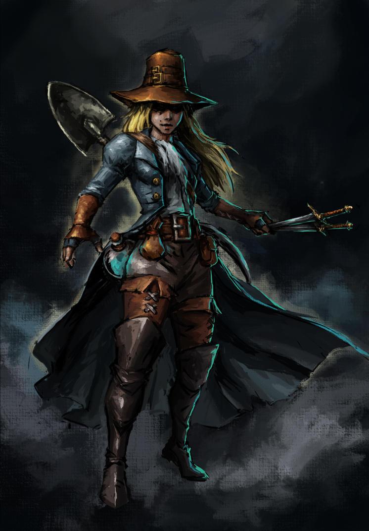 Darkest dungeon  grave robber by liewjj da0ydtb