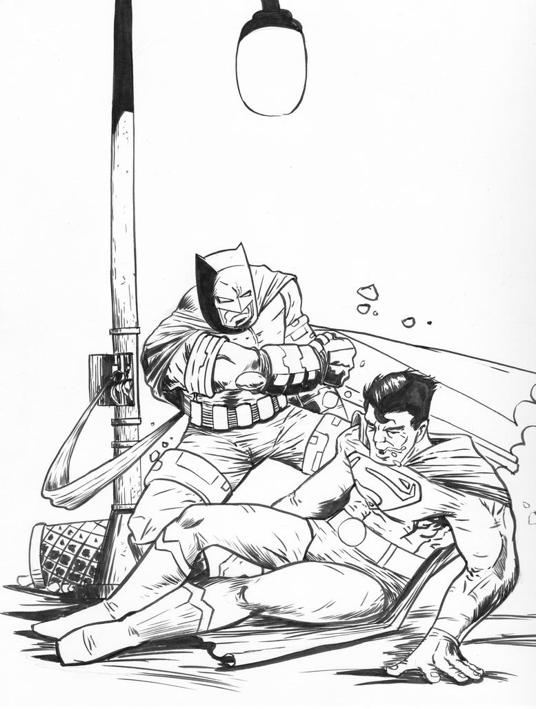 Batman VS Superman Dark Knight Returns By Theexodus97 On