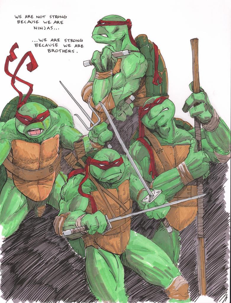 Teenage Mutant Ninja Turtles: Brothers by theexodus97