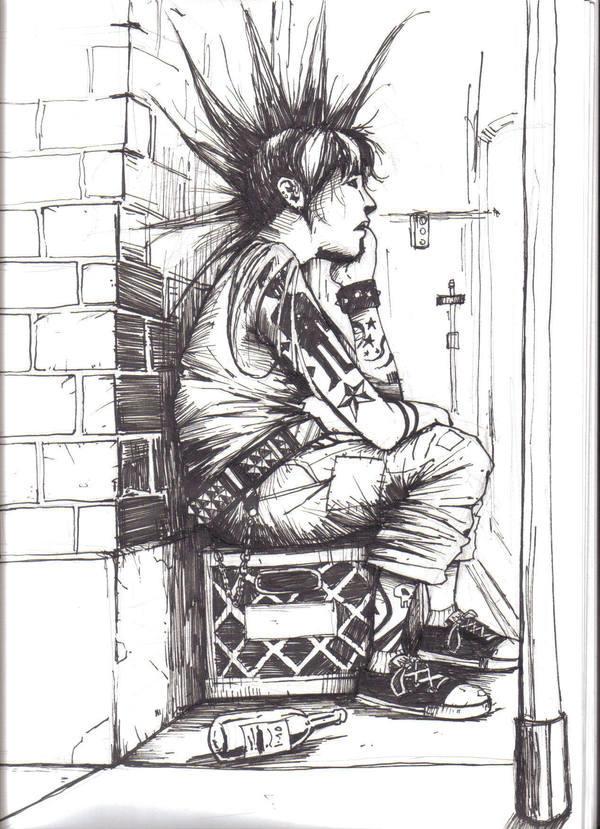 punk girl by theexodus97 on deviantart